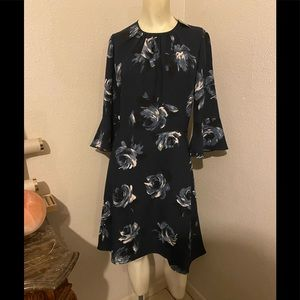 Kate Spade Night Rose Crepe Dress